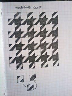 @Johanne Vajda, @Sheila S., @Suzanne Gauthier - houndstooth quilt blocks