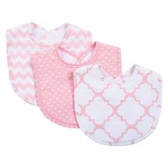 Trend Lab 3-Pk. Bib Set, Light Pink
