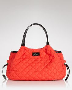 kate spade new york Baby Bag - Stevie | Bloomingdale's......not only is it red & black, but it's like quilted & cushy looking :) Two thumbs up!