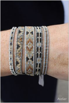 Stunning Bracelet in Grey Bead Strands by Atelier Home & Garden (UK)