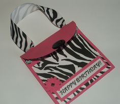 Zebra Happy Birthday Gift Card Holder
