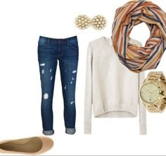 cute comfy and typical spring school outfit