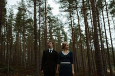 Hailey & Gabriel // Inshriach House Photographer.  An intimate woodlands wedding.
