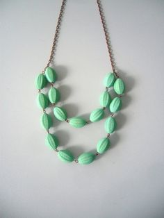 Green necklace by stavroula on Etsy, $20.00