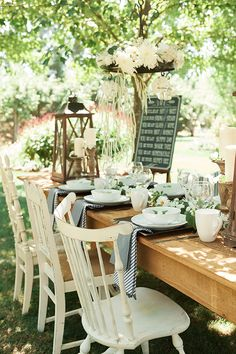 table event printanière fork rustic farm to party tables decor ...