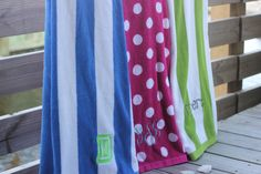 Personalize your life with this super trendy and plush resort beach towel. #thepreppypair #preppy #monogram www.thepreppypair.com