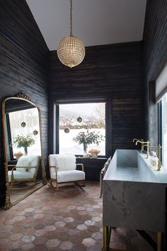 The author of Half Baked Harvest expands her business right in her own backyard Best Bathroom Tiles, Bathroom Ideas, Bathroom Inspo, Master Bathroom, Home By, Studio Kitchen, Colorado Homes, Visual Comfort, Fun At Work