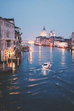 Grand Canal, Venice, Italy @  Night