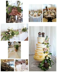 Marvin and Sal's modern and elegant tropical themed wedding featuring textured buttercream with edible gold paint and fresh flowers. LOVE LOVE LOVE the Pop Vinyl toppers! Edible Paint, Gourmet Cakes, Glass Slipper, Glamorous Wedding, Gold Paint, Pop Vinyl, Fresh Flowers, Wedding Cakes, Tropical