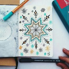 Draw your Christmas snowflake #snowflake ❄⛄