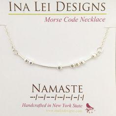 NAMASTE Morse Code Necklace, Namaste Necklace, Gift Best Friend, Best Friend Gift, Yoga Necklace