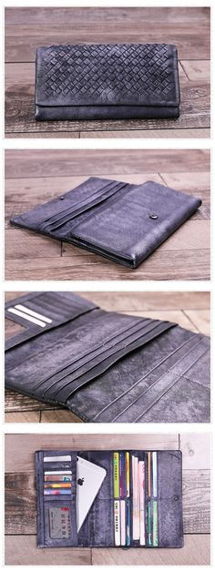 Genuine Leather Money Purse Card Holders Wallet Dimensions: Length: 19cm; Height: 10cm Color: Grey/Brown