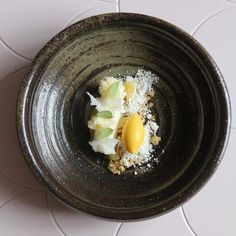 """Sudachi/Yuzu/Shiranui by Swedish pastry chef Daniel who runs Pastry Design #pastry #plating #gastronomy"