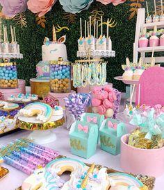 Unicorn Birthday Party unicorn birthday ideas and inspiration Unicorn Themed Birthday Party, Unicorn Birthday Parties, First Birthday Parties, Birthday Party Decorations, First Birthdays, 4th Birthday, 7th Birthday Party For Girls Themes, Bday Party Ideas, Girl Parties