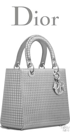 Brilliant Luxury * Dior Cruise 2016 ~ Lady Dior bag in silver-tone metallic calfskin