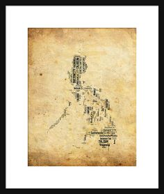 To conclude the philippines has a stable globalization for a philippines map typography map poster print text map grunge gumiabroncs Gallery