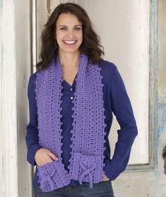Gift Pocket Scarf free pattern - I like the stitch pattern but not the pockets