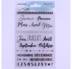 Tampon clear : Calendrier- DIY and Cie- ephemeria - scrapbooking Calendrier Diy, Tampon Scrapbooking, Tampons Transparents, Bullet Journal, Daily Word, Diy Games, Ink Stamps, Toy Block