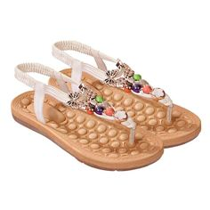 Sankuwen Women's Summer Bohemia Outdoor Beach Sandals Shoes >>> Click image for more details.