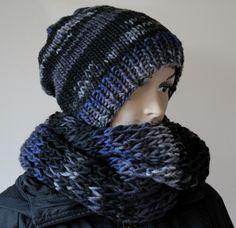 Beaniemützen - ♥ Mütze-Loop-Set ♥ 100% Merino ♥ kratzfrei - ein Designerstück von madebyaleinung bei DaWanda