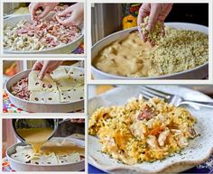 Chicken Cordon Bleu Casserole! - Easy and DELICIOUS way to use up that Whole Chicken you got on sale :)