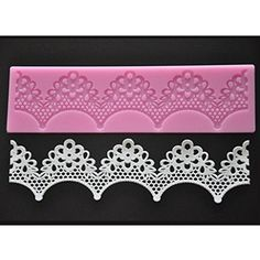 FOURC Cake Decoration Lace Cake Mat Cake Decor Pad Sugar Craft Supplies Color Pink * Read more at the affiliate link Amazon.com on image.