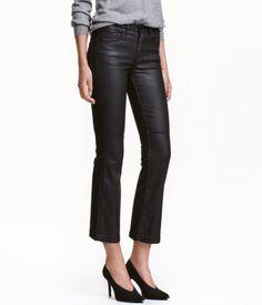 Kick Flare Jeans Regular   black   Women   H & M GB