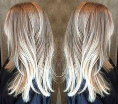 pretty blonde balayage hair color ash blonde golden blonde icy highlights beach mermaid hair ideas