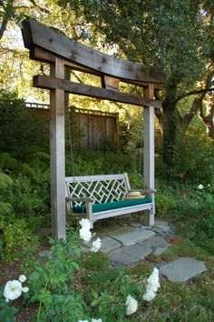 images of garden benches and swings | would love an outdoor bench swing