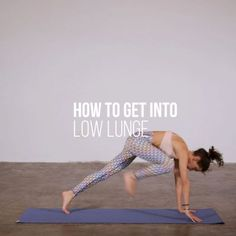 A common question from students is how to step forward into low lunge without dr