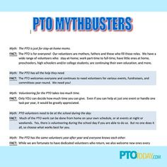 Let parents know what your PTO or PTA doesn't do!