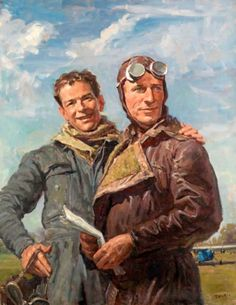 Sir Charles Kingsford Smith and Captain Charles Ulm,  by Sir William Dargie