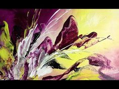 Purple Feeling - Einfach Malen - 10min. Abstract - Easy Painting - YouTube