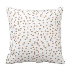 Creamy Beige and White Confetti Dots Throw Pillows  Save 15% on all pillow orders! LAST DAY Use Code: ZAZTAXSAVING