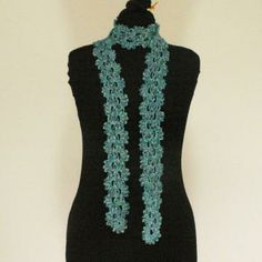 Variegated Teal Skinny Scarf by Clarify for $28.00 ~~ I love anything Teal!! This is gorgeous! ~~