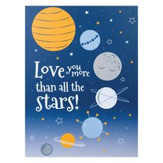 "Trend Lab X Framed Canvas Multi - Complete the look of your baby's room with the Galaxy Canvas Wall Art featuring the message ""Love you more than all the stars! Bird Canvas, Canvas Frame, Canvas Wall Art, Wall Art Prints, Canvas Prints, Galaxy Nursery, Planet Love, Baby Wall Decor, Navy Blue Background"