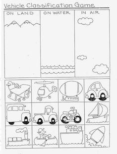 Sorting Worksheets for Kindergarten. 20 sorting Worksheets for Kindergarten. sorting Apples Worksheet for Preschool and Kindergarten Kindergarten Worksheets, In Kindergarten, Math Activities, Math Games, Transportation Worksheet, Transportation Theme Preschool, Coloring Pages, Italian Language, Korean Language
