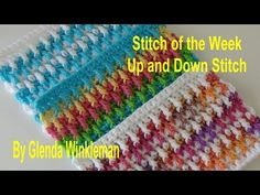 (27) Stitch of the Week #217 Up and Down Stitch (Free Pattern at the end of video) - YouTube