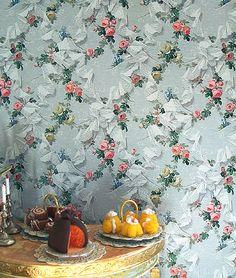 mini P-DENTELLE DROLE - Les Chinoiseries 1:12 Print Fabrics & wallpapers