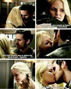 Finally a CaptainSwan moment! Pretty upset with Rumple though! Guess it was too much to have two reformed villains though, they made the right choice! #OUAT