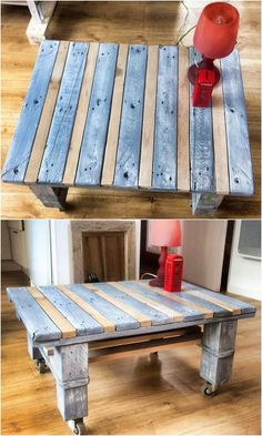 Placing table with the wheels effect in the houses created out of the wood pallet has always stood out to be an ultimate option in almost all the houses. Thus, this image will let you give out one such fantastic idea of elegant designed creation of wood pallet table brilliance.