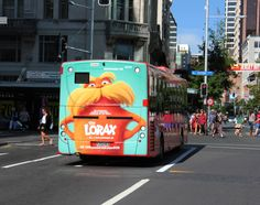 The Lorax on a busback.