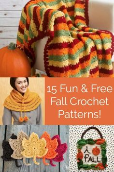 If you love autumn as much as I do, check out these 15 FREE fall crochet patterns. There is definitely something that will tickle your fall fancy! Diy And Crafts Sewing, Yarn Crafts, Decor Crafts, Diy Crafts, Walpaper Black, Diy Fall Wreath, Crochet Patterns Amigurumi, Crochet Stitches, Crochet Projects