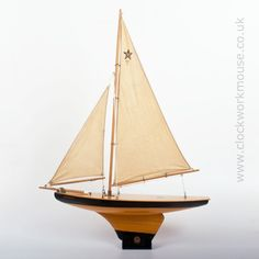 """A fine original example of the rare and sought after pond yacht """"Meteorite"""" from the famous English maker Star Yachts of Birkenhead, England."""