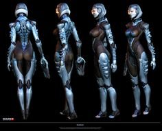 EDI's alternative armor. Love the spine shapes.   Mass Effect