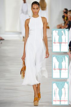 f00f5b3c247 Моделирование летнего платья летней коллекции 2016 года американского  дизайнера Ральфа Лорена. Осень 2015