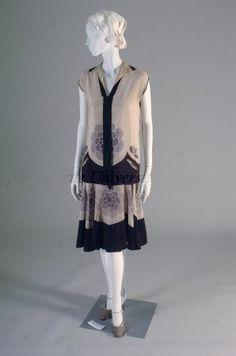 Silk crepe day ensemble |Kent State University Museum | 1925