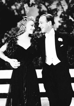 """""""because we are human, because we are bound by gravity and the limitations of our bodies, because we live in a world where the news is often bad and the prospects disturbing, there is a need for another world somewhere, a world where fred astaire and ginger rogers live."""" [roger ebert]"""