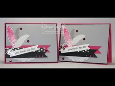 Today we will be making this card using the Four Feathers stamp set with the matching Feathers framelits . Using the Blendabilities as well Thanks for watchi...