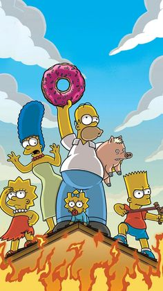 The Simpsons Movie Phone Wallpaper Simpson Wallpaper Iphone, Funny Phone Wallpaper, Homescreen Wallpaper, Locked Wallpaper, Aesthetic Iphone Wallpaper, Cartoon Wallpaper, Wallpaper Backgrounds, The Simpsons Movie, Simpsons Characters